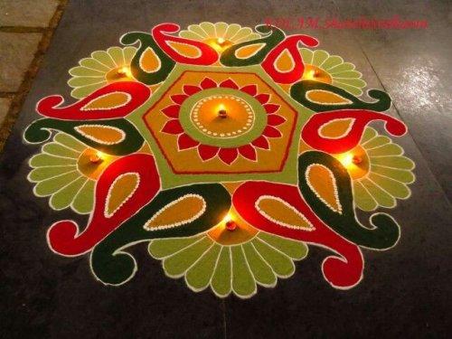 10 Divine Rangoli Designs For Navratri 2019 Rangoli Is A
