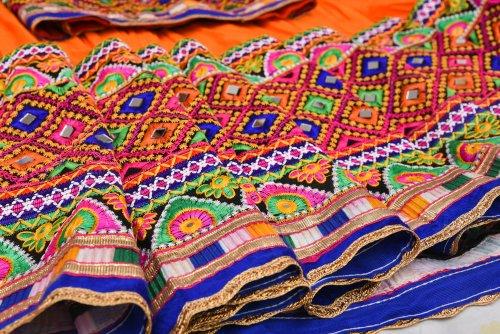 Dye Printed Work Cotton Fabric And Heavy Crocia Lace Kurti womens. Traditional Designer Beautiful Bandej /& Tye