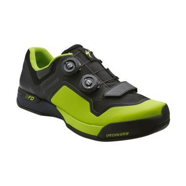 Specialized 2FO Cliplite Mountain Bike Shoes Sepatu Sepeda MTB Pria - Black  Monster Green 61116-60 158e90262f