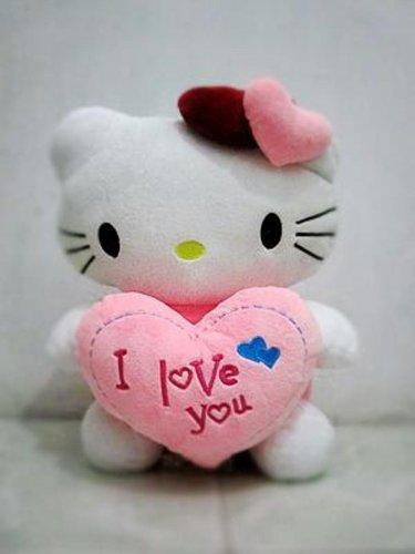 Boneka Hello Kitty Bahan Plush Warna Pink+Putih untuk Anak Perempuan 42d071338d