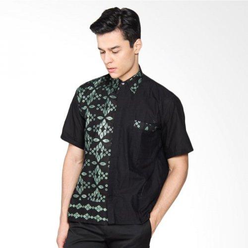 Cara Mengikat Kain Batik Pria: Baju Batik Kombinasi Polos Pria Lengan Panjang