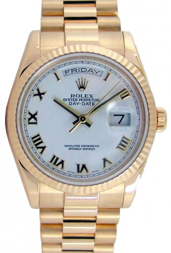 Rolex Day Date President 118238 Mens Yellow Gold 36 mm Champagne Diamond  Dial 9bb8b1fbc2