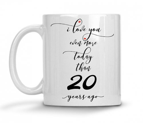 After 20 Years She Still Mug 20th Wedding Anniversary Gifts For Him Husband