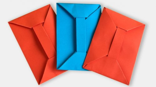 Leaf Envelope Making Easy Origami Tutorial - How To Make a Fance ... | 281x500