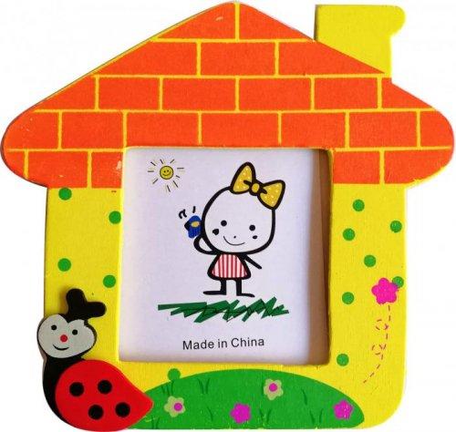 Coloured House Photo Frame