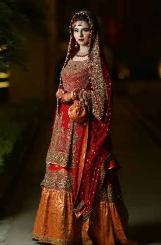 507ca1af98e8 The usual Bridal attire for every Indian Bride is a Lehenga. Some Indian  women also choose to wear the Saree as their bridal outfit.