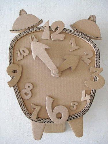 Kerajinan Membuat Jam Dinding Dari Kardus