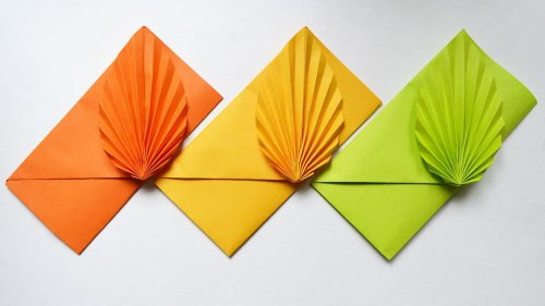 Leaf Envelope Making Easy Origami Tutorial - How To Make a Fance ...   281x500