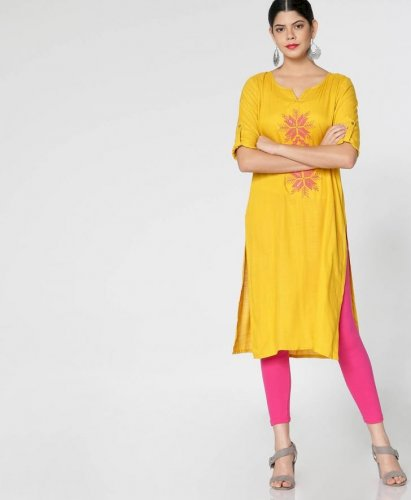 Wear Bright Yellow Kurtis To Make A Bold Style Statement 10 Designer Kurtis In Yellow Colour To Make You Stand Out From The Crowd In 2020
