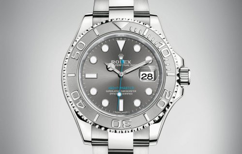 Rolex Yacht-Master 40 mm 116622 Dark Rhodium Blue Hand Steel   Platinum 86f71b9f2b