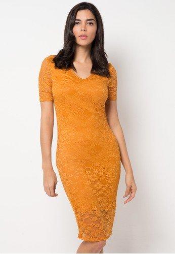 Model Dress Pesta Brokat Pendek