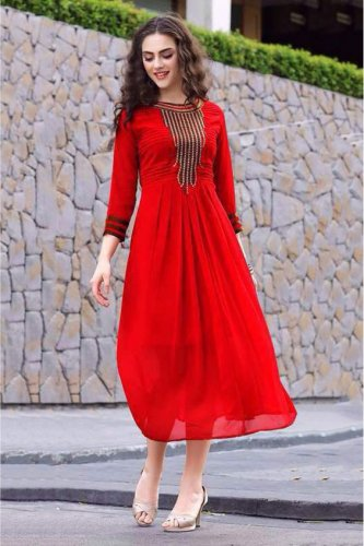 Women Feel Beautiful in Red: 10 Unique, Bold and Striking Red Kurti Designs Every Woman Should Incorporate in Her Wardrobe in 2019