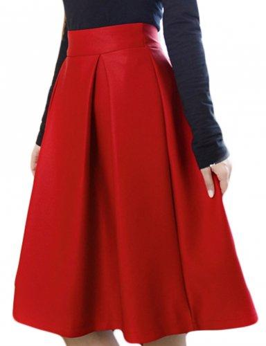 Tampil Elegan Dan Bold Dengan 9 Rekomendasi Rok Merah Untuk Wanita