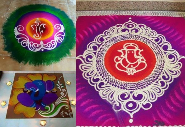 A Festival is Never Complete without a Rangoli: 10 Ganesh Chaturthi Rangoli Designs for 2020 to Enhance Your Festive Decoration