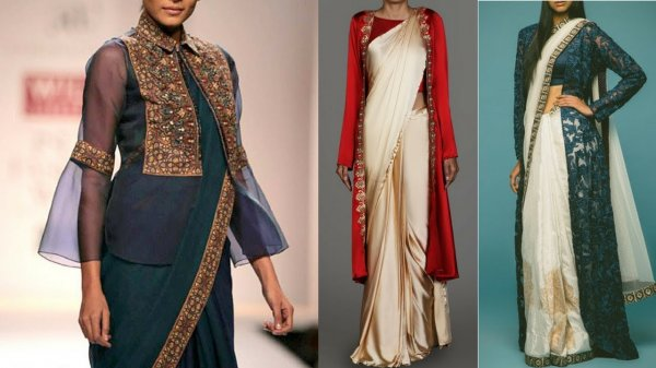 The saree is an undeniable classic but what keeps it from becoming a relic and at the forefrunt of contemporary fashion is the way it is adapted to changing styles. Jackets in various lengths and designs replacing the traditional saree blouse is one of the hottest trends to emerge from 2018, one you absolutely must try. Read on if you don't know the first thing about pairing jackets with sarees, or are simply looking for the best designs out there.