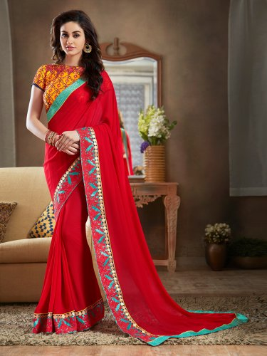 89b5723e72 Transform Your Wardrobe with the Latest Sarees! 10 Exquisite Sarees with  Work That Will Make You ...