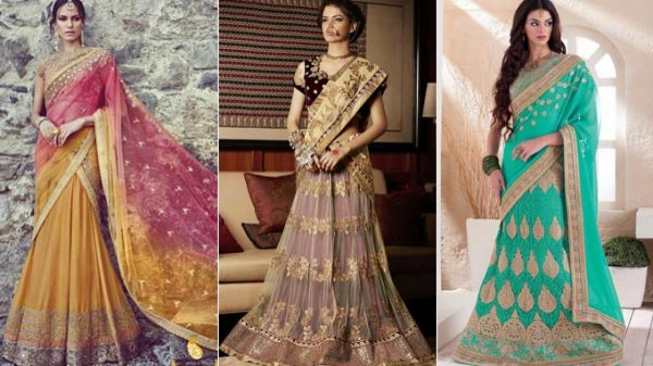 Rock the Latest Lehenga Trends: 10 Stylish Saree Lehenga Recommendations for a Scintillating Look (2020)