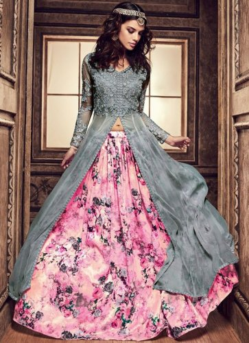 e7ed6aba73 Strike a Different Note with Trending Lehenga Blouse Designs  10  Exceptional Lehenga Long Top Options for ...