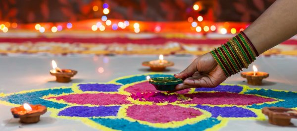 Readying Your House for Diwali Celebrations? Here are 10 Flower Rangoli Design Ideas for 2020