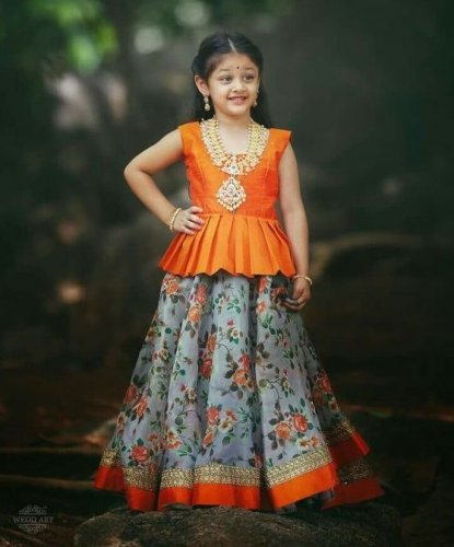 ce36a72b1 Make Your Little Girl Look Like a Princess in a Traditional Lehenga ...