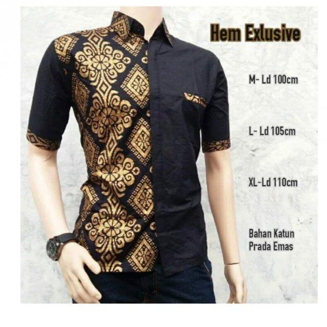 Gambar Baju Batik Kerja Kombinasi Polos: 11 Baju Batik Kombinasi Yang Tepat Dan Elegan Untuk Pria