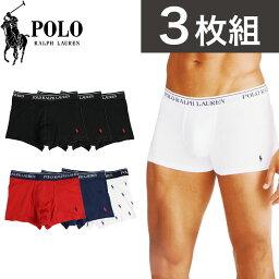 Polo Ralph Lauren 【3枚セット】ポロ・ラルフローレン ボクサーパンツ メンズ 下着 Polo Ralph Lauren アンダーウェア ドット柄 お得 セット