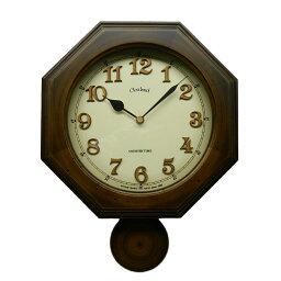 振り子時計 壁掛け時計 振り子時計 壁掛け 電波 木製 日本製 レトロ 八角 柱時 木製 おしゃれ ギフト プレゼント インテリア リビング アンティーク レトロ