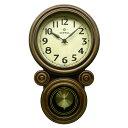 振り子時計 日本製 さんてる ミニだるま 電波振り子時計