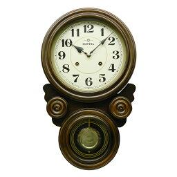 振り子時計 振り子 時計 壁掛け 電波 木製 ぼんぼん時計 ボンボン 柱時計 四つ丸 日本製 ギフト プレゼント アンティーク レトロ インテリア