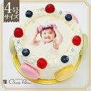 オリジナル写真のデコレーションケーキ ≪シェリーブランの写真ケーキ≫誕生日ケーキ バースデーケーキの新定番 みんなが楽しめる写真ケーキを送ってみませんか?写真ケーキ4号サイズ(2〜3名用)5P04Jul15