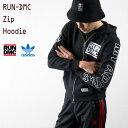 アディダス [アディダス オリジナルス]RUN DMC グラフィック ジップ フーディー adidas originals GRAPHIC ZIP HOODIE MHW25 パーカー スウェット YH