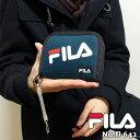 初売り財布 FILA 刺繍 フィラ 小学生 中学生 高校生 布製 コイルストラップ付き 二つ折り財布fl-642 メンズ 子ども ジュニア ウォレット 財布 小銭入れ ブラック プレゼント ラウンドファスナー ナイロン
