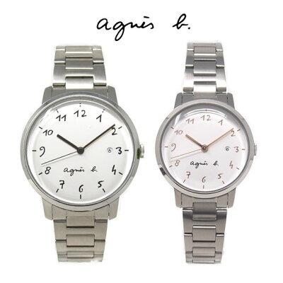 アニエスベー 時計 ペアウォッチ FCRK991 FCSK935 ペア ホワイト シルバー メンズ レディース アニエス 腕時計 誕生日プレゼント 記念日 プレゼント