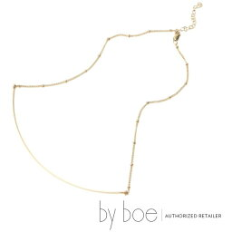 バイボー 【byboe バイボー】LinoJewels限定デザイン CURVE BAR&SATURN CHAIN ネックレス ワイヤー バー