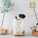 花瓶 【楽天倉庫からの発送】フラワーベース ペンスタンド Sサイズ 花瓶 ガラス おしゃれ かわいい ゴールド 丸 丸型 円形 シンプル ガラス瓶 小物入れ