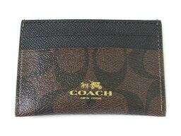 コーチ 定期入れ 【スペシャル】Coach コーチ カードケース シグネチャー PVC 63279 ブラウン/ブラック【新品】COACH Signature PVC Card Case (Style F63279 IMAA8) IM/Brown/Black