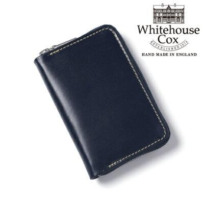 7901ce0758df ホワイトハウスコックス 本革 小銭入れ コンパクト ミニ財布 S1941 ネイビー 紺 マルチパース ブランド