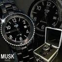 ムスク 腕時計(メンズ) 腕時計 メンズ 送料無料 人気 ブランド MUSK ムスクカレンダー機能 フルセラミック MSF2502205 MSF2502203
