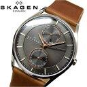 スカーゲン 腕時計(メンズ) 【レビューを書いて5年保証】スカーゲン SKAGEN時計 腕時計 メンズレザー ブラウン ピンクゴールド SKW6086 プレゼント