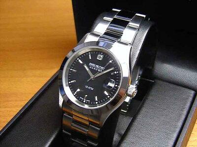 スイスミリタリー 腕時計 エレガント ML98 メンズ 35mm 【文字盤カラー ブラック】
