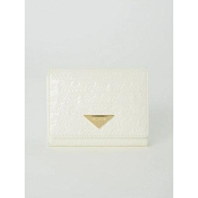 ロゴ型押し三つ折小財布/セシルマクビー(CECIL McBEE)