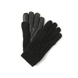 ビームス 手袋 メンズ BEAMS / ケーブル レザー グローブ/ビームス(BEAMS)