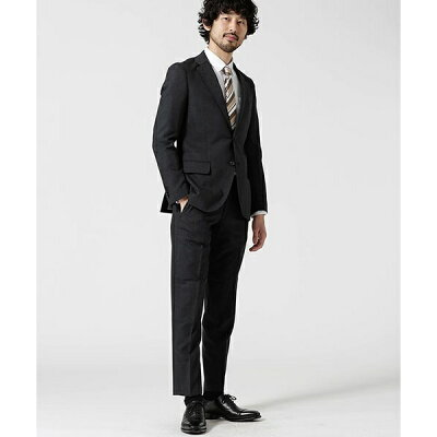 【WEB限定】【Dresspresso】スーツ+ソリッド+スリム+グレー/ナノ・ユニバース(メンズ)(nano universe)