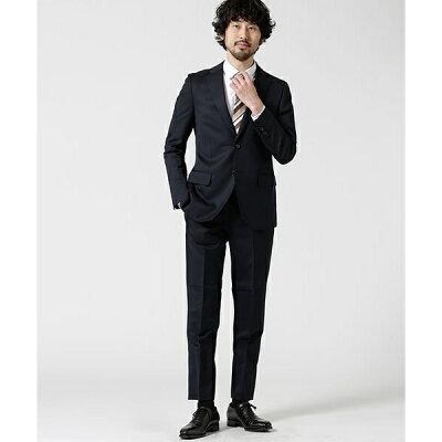 【WEB限定】【Dresspresso】スーツ+ソリッド+スタンダード+ネイビー/ナノ・ユニバース(メンズ)(nano universe)