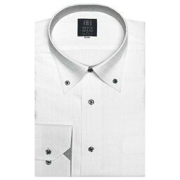 ブリックハウスシャツ工房 Yシャツ 形態安定 ノーアイロン 長袖ワイシャツ ドゥエボットーニ ボタンダウン 白(透け防止) 標準体/ブリックハウス(BRICKHOUSE)