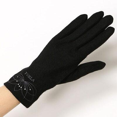 【スマホ対応カシミヤ75%シルク25%】フルラ手袋(ジャージ手袋)/フルラ(手袋)(FURLA(GLOVES))