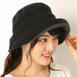 フルラ 帽子 レディース 【UV遮蔽率98%以上・サイズ調整OK・日本製】手洗いできる麻100% 後ろリボンハット/フルラ(ネックウェア・帽子)(FURLA)
