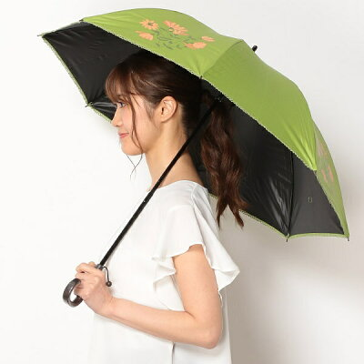 日傘(ショートスライド式/晴雨兼用)【軽量/遮光&UV遮蔽率99%以上/遮熱】花柄/シビラ(Sybilla)