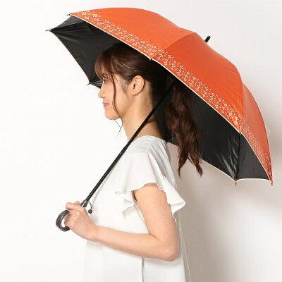 日傘(ショートスライド式/晴雨兼用)【軽量/遮光&UV遮蔽率99%以上/遮熱】裾模様/シビラ(Sybilla)