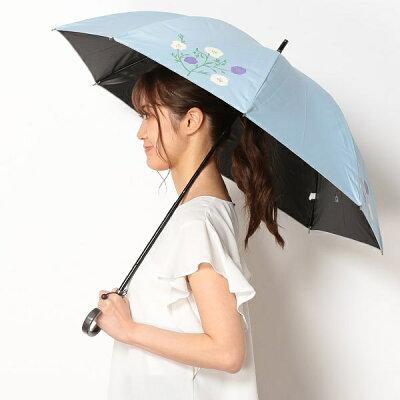 日傘(ショートスライド式/晴雨兼用)【遮光&UV遮蔽率99%以上/遮熱】花柄/シビラ